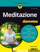 MEDITAZIONE FOR DUMMIES - BODIAN STEPHAN