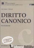 DIRITTO CANONICO - DEL GIUDICE FEDERICO-MARIANI FEDERICO