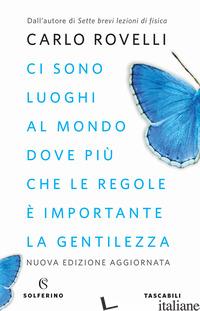 CI SONO LUOGHI AL MONDO DOVE PIU' CHE LE REGOLE E' IMPORTANTE LA GENTILEZZA. ART - ROVELLI CARLO