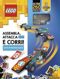 ASSEMBLA, ATTACCA E CORRI! AUTO PERSONALIZZATE. LEGO. CON ADESIVI. EDIZ. A COLOR -