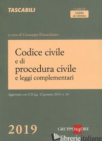 CODICE CIVILE E DI PROCEDURA CIVILE E LEGGI COMPLEMENTARI - FINOCCHIARO G. (CUR.)