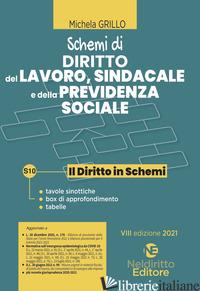 SCHEMI DI DIRITTO DEL LAVORO, SINDACALE E DELLA PREVIDENZA SOCIALE - GRILLO MICHELA