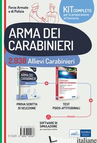 KIT COMPLETO CONCORSO 2.938 ALLIEVI CARABINIERI. PROVA SCRITTA DI PRESELEZIONE-T - NISSOLINO P. (CUR.)