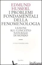 PROBLEMI FONDAMENTALI DELLA FENOMENOLOGIA. LEZIONI SUL CONCETTO NATURALE DI MOND - HUSSERL EDMUND; COSTA V. (CUR.)