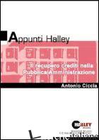 RECUPERO CREDITI NELLA PUBBLICA AMMINISTRAZIONE (IL) - CICCIA ANTONIO