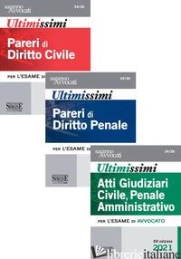 ULTIMISSIMI PARERI DI DIRITTO CIVILE-ULTIMISSIMI PARERI DI DIRITTO PENALE-ULTIMI - 54/20