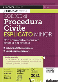 CODICE DI PROCEDURA CIVILE ESPLICATO. EDIZ. MINOR - COMITE A. (CUR.); LIGUORI S. (CUR.)