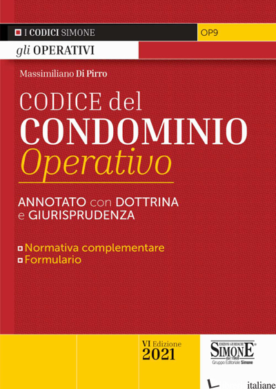 CODICE DI CONDOMINIO OPERATIVO - DI PIRRO MASSIMILIANO