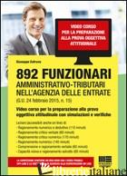892 FUNZIONARI AMMINISTRATIVO-TRIBUTARI NELL'AGENZIA DELLE ENTRATE. VIDEO CORSO  - COTRUVO GIUSEPPE