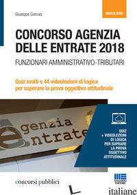 CONCORSO AGENZIA DELLE ENTRATE 2018. FUNZIONARI AMMINISTRATIVO-TRIBUTARI. QUIZ S - COTRUVO GIUSEPPE