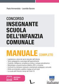 CONCORSO INSEGNANTE SCUOLA DELL'INFANZIA COMUNALE. CON ESPANSIONE ONLINE - AMMENDOLA PAOLO; BARONE LEONILDE