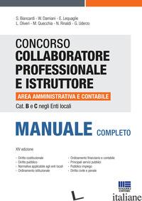 CONCORSO COLLABORATORE PROFESSIONALE E ISTRUTTORE AREA AMMINISTRATIVA E CONTABIL - AA.VV.