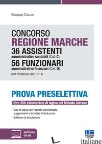 CONCORSO REGIONE MARCHE 36 ASSISTENTI AMMINISTRATIVO CONTABILI (CAT. C) 56 FUNZI - COTRUVO GIUSEPPE