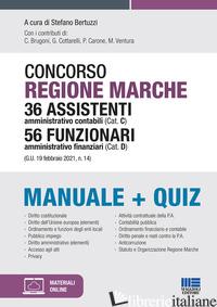 CONCORSO REGIONE MARCHE 36 ASSISTENTI AMMINISTRATIVO CONTABILI (CAT. C) 56 FUNZI - BERTUZZI S. (CUR.)