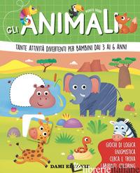 ANIMALI. TANTE ATTIVITA' DIVERTENTI PER BAMBINI DAI 3 AI 6 ANNI. EDIZ. A COLORI  - FABBRI MONICA