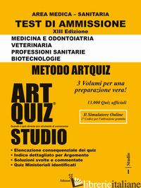 ARTQUIZ STUDIO. TEST DI AMMISSIONE A: MEDICINA, ODONTOIATRIA, VETERINARIA, PROFE - GIURLEO A. (CUR.)