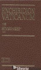 ENCHIRIDION VATICANUM. VOL. 18: DOCUMENTI UFFICIALI DELLA SANTA SEDE (1999) - LORA E. (CUR.)