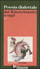 POESIA DIALETTALE DAL RINASCIMENTO A OGGI - SPAGNOLETTI G. (CUR.); VIVALDI C. (CUR.)