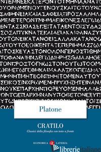 CRATILO. TESTO GRECO A FRONTE - PLATONE