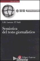 SEMIOTICA DEL TESTO GIORNALISTICO - LORUSSO ANNA MARIA; VIOLI PATRIZIA