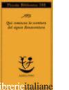 QUI COMINCIA LA SVENTURA DEL SIGNOR BONAVENTURA - TOFANO SERGIO; TINTERRI A. (CUR.)
