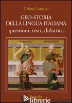 GEO-STORIA DELLA LINGUA ITALIANA. QUESTIONI, TESTI, DIDATTICA - GARGANO TRIFONE