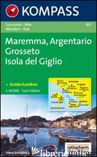 CARTA ESCURSIONISTICA N. 651. TOSCANA, UMBRIA, ABRUZZI. MAREMMA, ARGENTARIO, GRO - AA VV