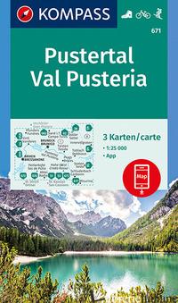 CARTA ESCURSIONISTICA N. 671. VAL PUSTERIA - PUSTERTAL 1:25.000 (SET DI 3 CARTE) -