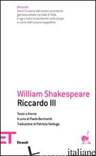 RICCARDO III - SHAKESPEARE WILLIAM