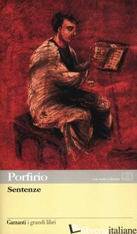 SENTENZE. TESTO GRECO A FRONTE - PORFIRIO; DELLA ROSA M. (CUR.)